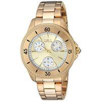 Invicta Women's Angel Quartz 100m Chrono Stainless Steel Gold Tone Watch 22969