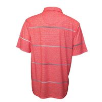 PGA TOUR Men's Size XLarge Short Sleeve Golf Polo Shirt, Calypso Coral Heather