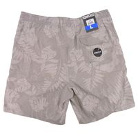 Micros Men's Swim Trunk Bathing Suit Board Short with Pockets In Gray, L