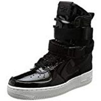 Womens Nike Wmns Air Force 1 SE PRM In Black/Black Reflect Silver, 6