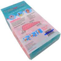The Original Turbie Twist Super Absorbent Microfiber Hair Towel In White/Pink(Set of 2)
