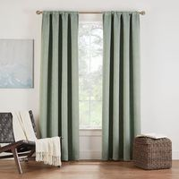 Eclipse Twilight Luna 95Inch Rod Pocket Room Darkening Window Curtain Panel in Basil