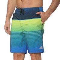 Zeroxposur Mens Blue Green Swim Shorts Trunks Pac Board Swimsuit S Small