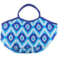 BEACH CANDIE IKAT TOTE BAGS ONE SIZE IN BLUE