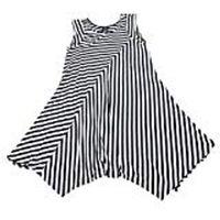 Premise Women's Sleeveless Dress In Black White Stripe, Medium