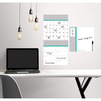 Wallpops Pimlico Dry Erase Combo Wall Decal with Monogram, Multi Color