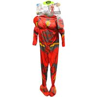 Rubie's Boys Justice Justice League Deluxe Flash Costume In Red, M