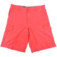 IZOD Men's Saltwater Red Izod Flat Front Cargo Shorts, 32
