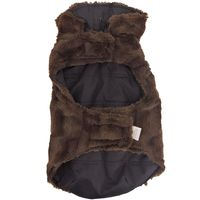 Pawslife Faux Suede/Fur Pet Coat in Brown