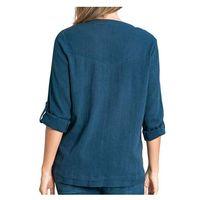Bandolino Women's Corrine Gauze Top In Majestic Blue, Size XXLarge