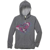 Roxy Girls Fashion Hoodie In Heritage Heather, Size M