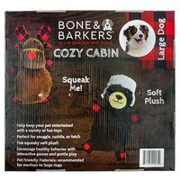 BONE & BARKERS BUFFALO CHECK DOG TOY PACK (LARGE, 2 PACK)