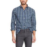 Chaps Men's Easy Care Woven Short Sleeve ButtonDown Shirt In Navy Size 3XL