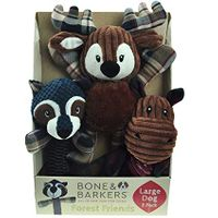 Bone and Barkers 3 Pieces Autumn Dog Toy Pack, Large Dog