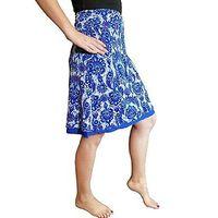 Colorado Clothing Reversible Skirt Blue Antiquity, Medium