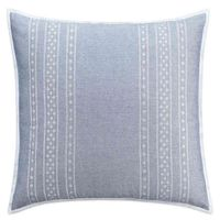 Cupcakes and Cashmere Chambray Dot European Pillow Sham in Blue