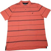 NAUTICA MENS POLO SHIRT IN DREAMY CORAL, SIZE M