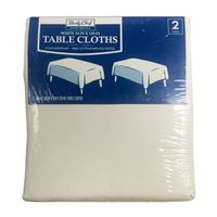 Daily Chef Rectangular 54 x 120 Tablecloth, White (2 pk.)