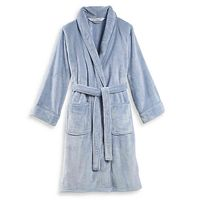 Wamsutta Large/XLarge Plush Bathrobe In Blue