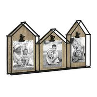 Bee  Willow Home 3Photo House Collage Frame in Black