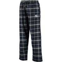 NFL New York Yankees Men's 2XLarge Flannel Plaid Pajama Pant with Left Leg Team Logo