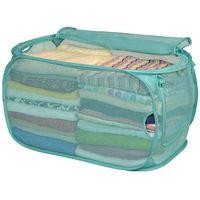 Smart Design PopUp Flip Hamper and Basket in Pool Blue