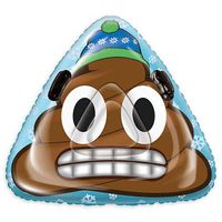 Pipeline Sno Speed Dump Poop Emoji Inflatable Rocket Snow Tube in Blue/Brown