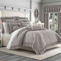 PIPER  WRIGHT EMILY FULL/QUEEN COMFORTER SET IN GREY