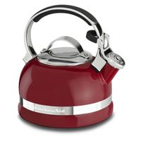KitchenAid 2Quart Porcelain Enamel Tea Kettle with Stainless Steel Handle in Red