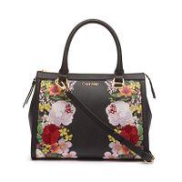 Calvin Klein Mercy Floral Leather Satchel