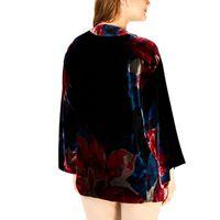 Trina Turk Velour Printed Poncho Jacket In Multi, S