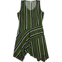 Bar III Womens Handkerchief Hem Shift Dress, Green, XXLarge