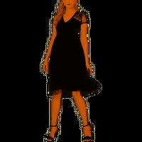 Kensie Womens Mesh Floral Midi Dress In Black, size 10