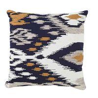 Ikat Square Throw Pillow in Indigo
