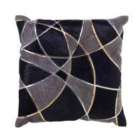 Lasercut Hide Square Throw Pillow in Indigo