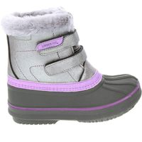 London Fog Toddler Little Girls Totty Ankle High NonSlip Snow Boots In Lavender, 11M