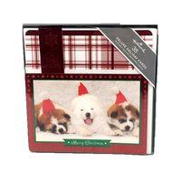 HALLMARK BOXED CHRISTMAS CARDS  3 DOGS
