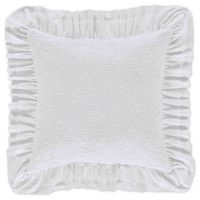 Piper  Wright Emily Square Throw Pillow in White