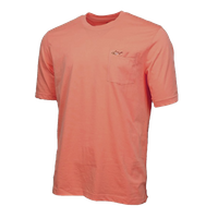 Greg Norman Men's 100% Cotton Casual T Shirt with Pocket In Coral, XXL