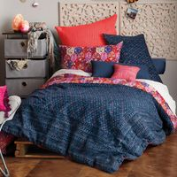 ANTHOLOGY HAPPY INDIGO EUROPEAN PILLOW SHAM