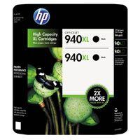 HP 940XL Black Printer Ink Cartridges, 2Pack