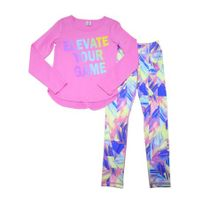 Active Life Elevate Your Game 2 Pc Activwear Set PinkMulti Girls Size 4