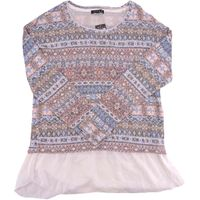 Kiara Women's Sweater Chemise Top Blouse in Sahara, Size Medium