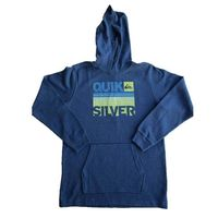 Quiksilver Boy's Thermal Long Sleeve Hoodie Pullover Sweater (Size Large, Color Victoria Blue Heather)