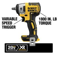 DEWALT 20Volt Max LithiumIon 3/8 in. Cordless Compact Impact Wrench (ToolOnly)
