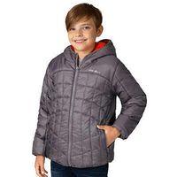 Eddie Bauer Boys Youth Reversible Hooded Jacket (Grey Orange, XS 5/6)