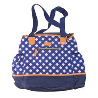 FIT FRESH Insulated Napa Vegan Leather Tote in Square Blue