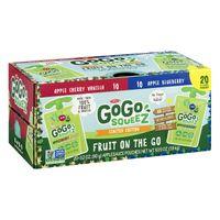 GoGo squeeZ Applesauce, Cherry Vanilla/Blueberry (3.2 oz., 20 ct.)
