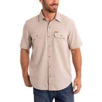 Orvis Men's Short Sleeve Woven Tech Shirt, Khaki Neutral, M