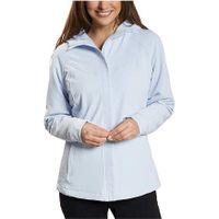 Kirkland Signature Ladies' WaterRepellent Wind Resistant Softshell Jacket In Light Blue, L
